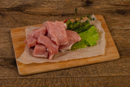 Raw pork meat heap for roast Standard-Bild