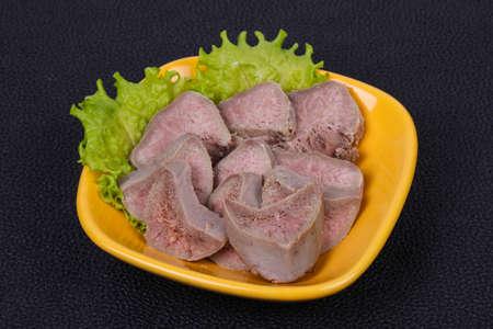 Gurmet pork tongue snack appetizer