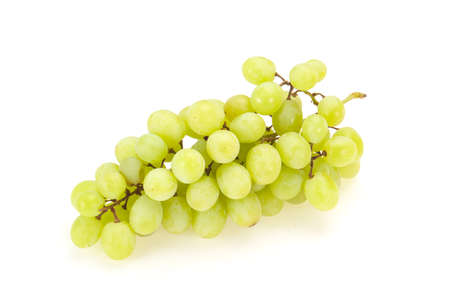 Branche de raisin vert frais mûr doux
