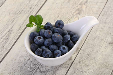 Sweet tasty Blueberry in the bowl 스톡 콘텐츠