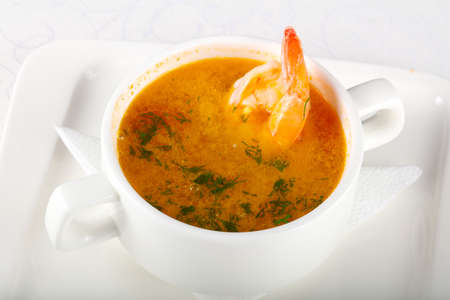 Prawn soup with spices