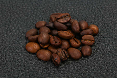 Roasted coffee beans ready for cooking