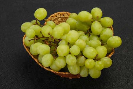 Sweet ripe fresh Green grape branch