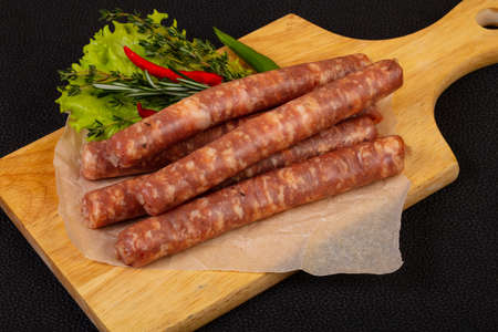 Raw pork sausages for grill Stockfoto