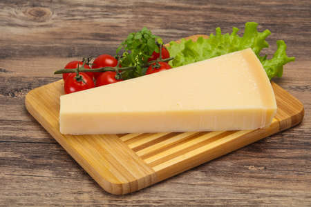 Italian traditional parmesan cheese triangle served salad