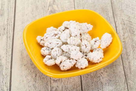 White Almond Candy heap in the bowl Banco de Imagens