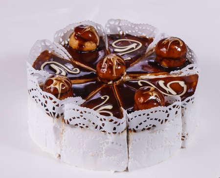 Delicous Cake chocolate with cream 写真素材
