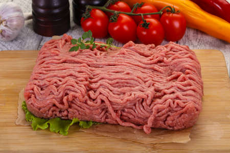 Raw turkey minced meat for cooking