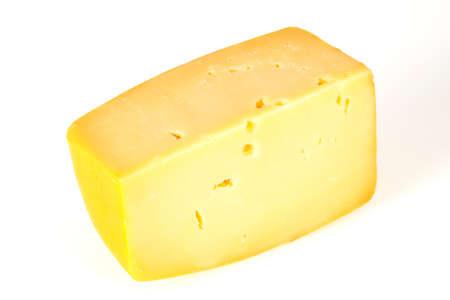 Swiss Hard yellow tasty cheese brick