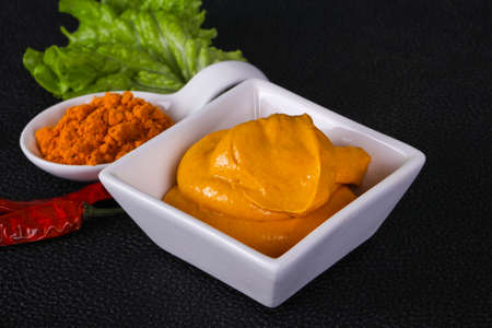 Tasty Curry sauce in the bowl