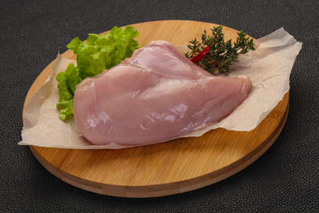Raw chicken breast ready for cooking