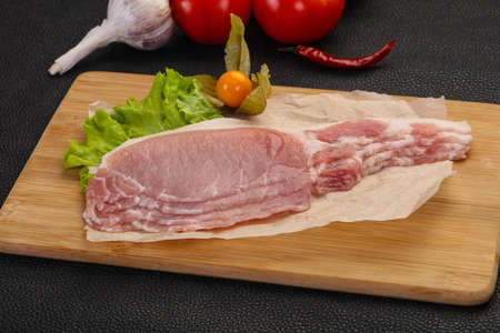 Raw pork bacon ready for cooking 写真素材