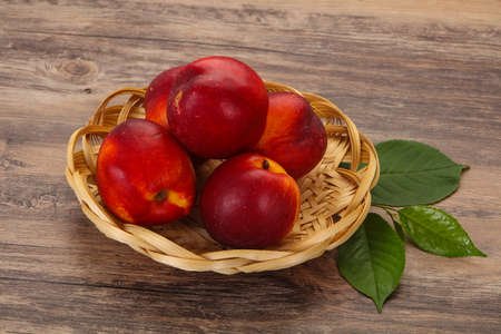 Sweet tasty ripe few nectarines fruit