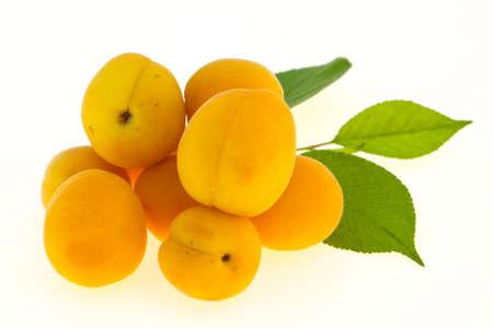 Ripe tasty sweet few apricots heap