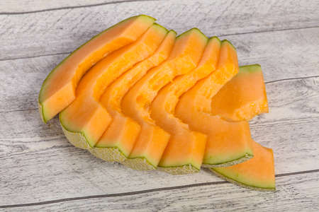 Sliced tasty sweet sliced yellow melon
