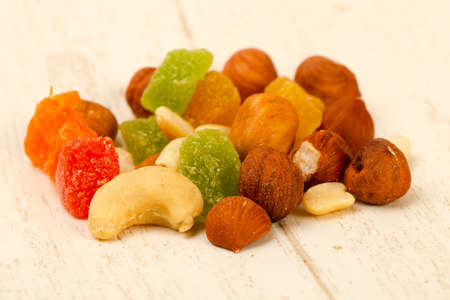 Nut and dry fruit mix Imagens