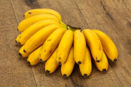 Ripe sweet yellow Mini banana heap