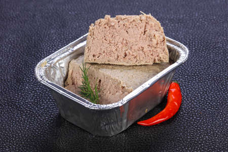 Pork pate with dill served pepper