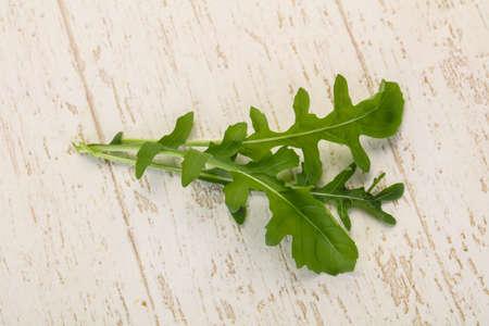 Green fresh ripe Rocket leaves