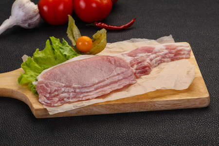 Raw pork bacon ready for cooking 스톡 콘텐츠