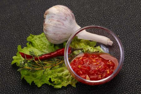 Spicy tomato, horse radish and garlic sauce