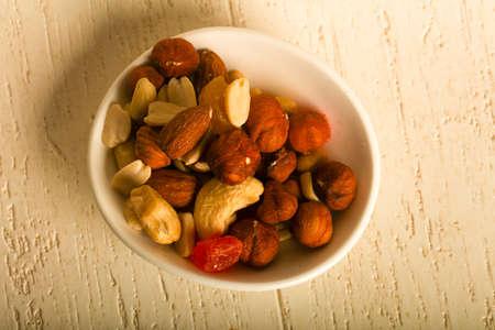 Nut and dry fruit mix 版權商用圖片