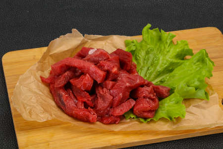 Raw beef meat sliced ready for cooking 版權商用圖片 - 129173304