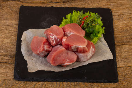 Raw pork tenderloin ready for cooking 版權商用圖片 - 129173307