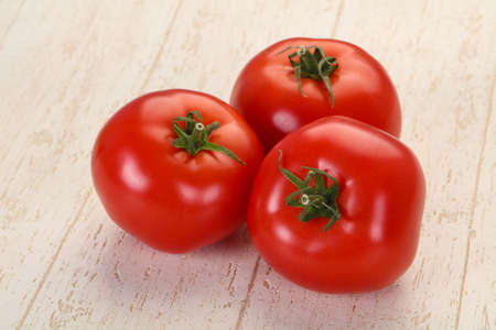 Ripe juicy red big tomatoes