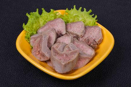 Gourmet pork tongue snack appetizer