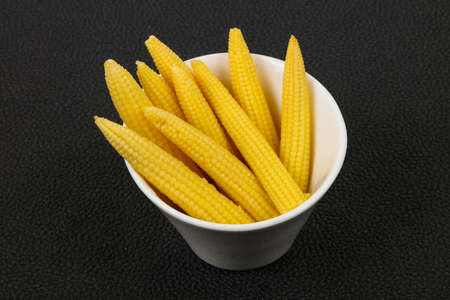 Pickled baby corn in the bowl Zdjęcie Seryjne
