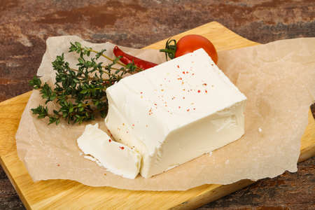 Traditional Feta Cheese served thyme