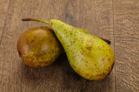 Green ripe sweet juicy pear Stockfoto