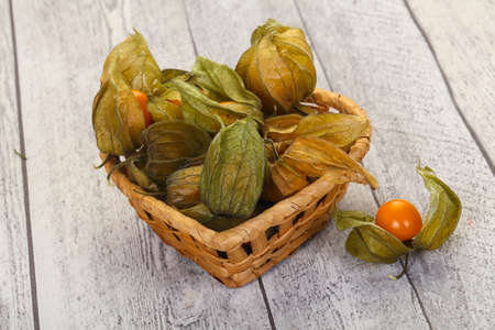 Ripe Winter cherry heap in the bowl Reklamní fotografie