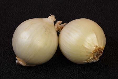 Ripe white onion ower natural background