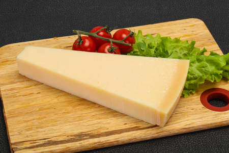 Italian traditional parmesan cheese triangle served salad Imagens