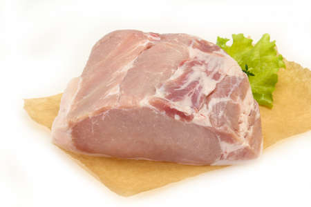 Raw pork meat piece ready for cooking