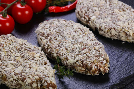 Raw minced lamb cutlet ready for roast Zdjęcie Seryjne
