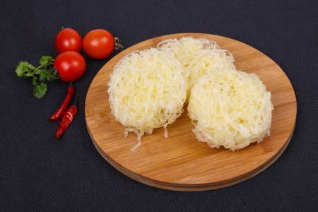 Raw rice noodle ready for cooking Imagens