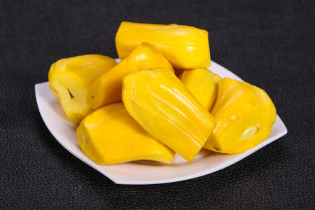 Tropical exotic fruit - Jackfruit tree in the plate Фото со стока