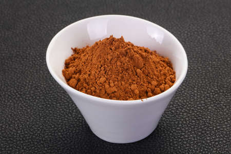 Cocoa powder in the bowl - ready for cooking