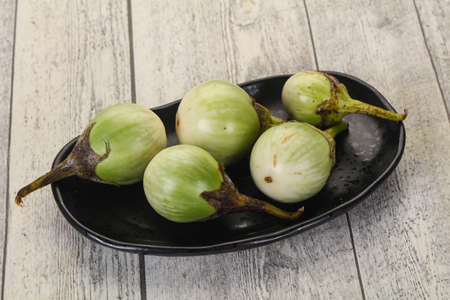 Asian small green eggplant - ready for cooking Stok Fotoğraf
