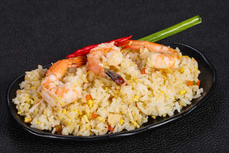 Thai style fried rice with prawn and egg