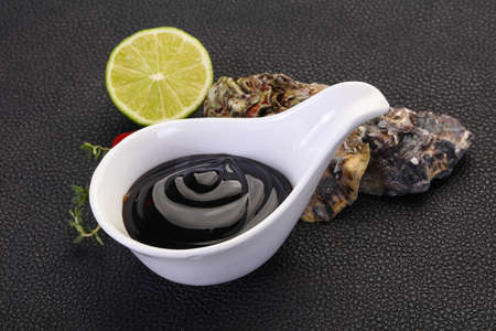 Traditional Oyster sauce in the bowl Stok Fotoğraf