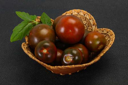 Black tomato -tasty fresh ripe Kumato Stock fotó