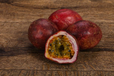 Delicous sweet exotic Passion Fruit Maracuya Stockfoto