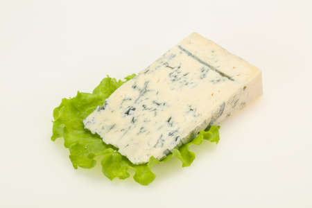 Italian traditional gorgonzola cheese isolated on white Stock fotó