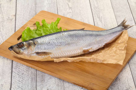 Salted herring fish ready for eat