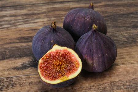 Ripe sweet fresh sliced fig fruit