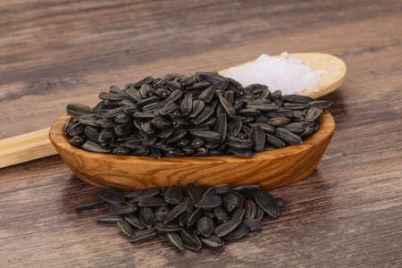 Tasty roasted sunflower seeds heap ready for eat Reklamní fotografie